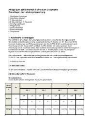 Anlage zum schulinternen Curriculum Geschichte Grundlagen der ...