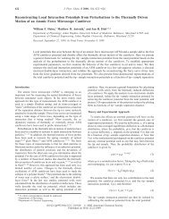 Reconstructing Local Interaction Potentials from Perturbations to the ...