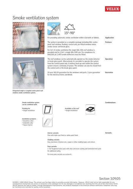 Smoke ventilation system - Velux on
