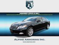 ARMORED LEXUS LS 460 L - Alpine Armoring Inc.