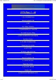 1970 Platz 1 - 40 - Creedence Clearwater Revival Homepage