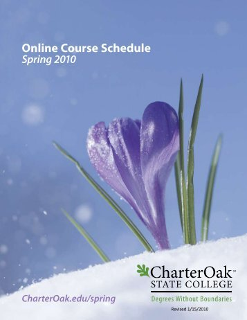 Spring 2010 Online Course Schedule - Charter Oak State College