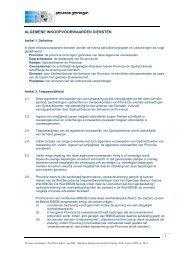 Algemene inkoopvoorwaarden Provincie Groningen - TenderGuide