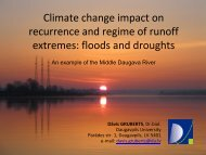 Climate change impact on recurrence and regime of ... - BALTEX