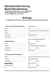 Antrag Zahntechniker-Innung Berlin-Brandenburg