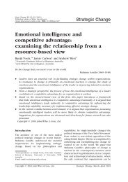 Emotional intelligence and competitive advantage: examining the ...