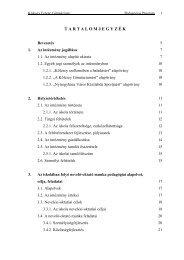 A Kölcsey Ferenc Gimnázium és Kollégium Pedagógia Programja