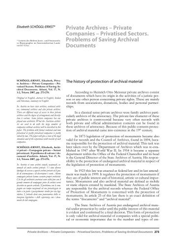 Private Archives - IIAS International Institute for Archival Science ...