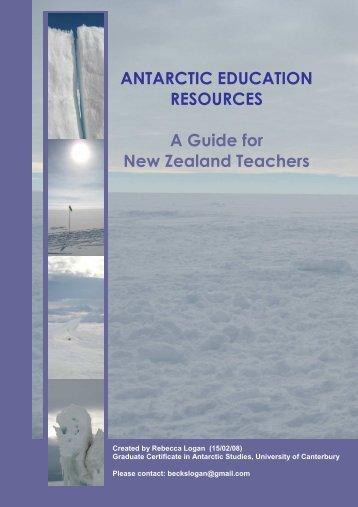 Antarctic Education Resources - Gateway Antarctica - University of ...