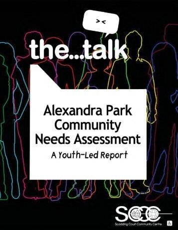 Alexandra Park Communtiy Needs Assessmemt: A Youth-Led ...