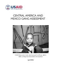 USAID Central America and Mexico Gang Assessment