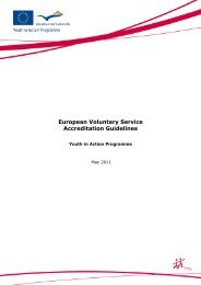European Voluntary Service Accreditation Guidelines