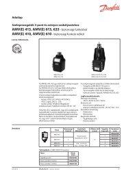 AMV(E) 413, AMV(E) 613, 633- biztonsági funkcióval