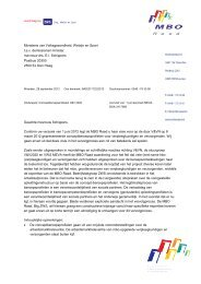 Beleidsreactie MBO Raad aan minister Schippers over ...