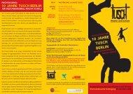 10 JAHRE TUSCH BERLIN - Spiel Art Berlin