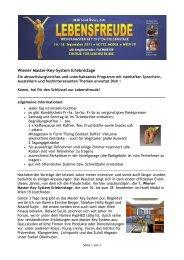 Wiener Master-Key-System Erlebnistage - Ihr Einkauf
