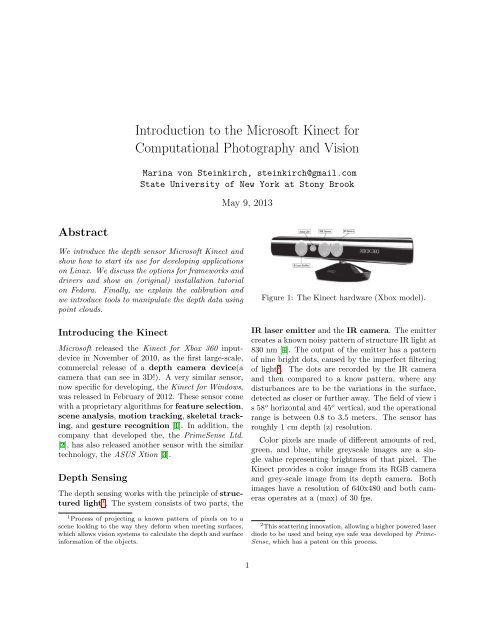 how to get started in Linux with the Microsoft Kinect - Stony Brook