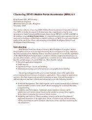 Clustering IBM® Mobile Portal Accelerator (MPA) 6.1 ... - Lotus