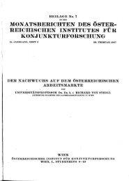 reichischen institutes für konjunkturforschung - Wifo