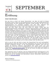 NSV/NSJ Newsletter im September 2009