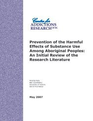 Prevention of the harmful effects of substance use among ... - CARBC