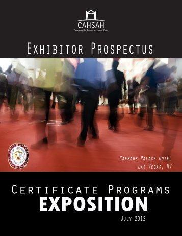 Exhibitor Prospectus - Cahsah