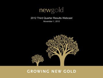 2012 Third Quarter Results Webcast - New Gold