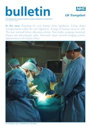 Issue 58 Spring 2006 - Organ Donation