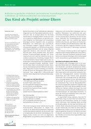 Das Kind als Projekt seiner Eltern - Schweizerische Ärztezeitung