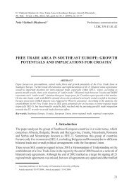 free trade area in southeast europe: growth potentials and ...