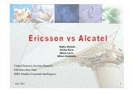 Ericsson vs. Alcatel