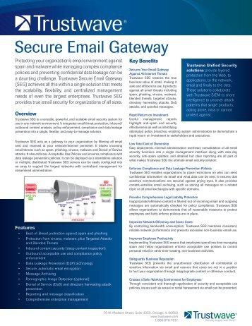 Secure Email Gateway - Trustwave