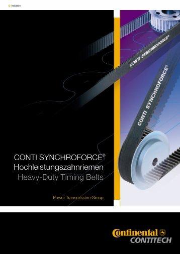 Зубчатые ремни ContiTech Synchroforce CXA, CXP