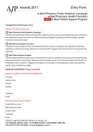 Awards 2011 Entry Form
