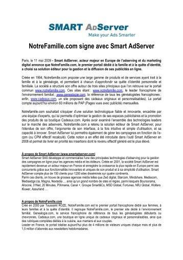 Notrefamille.com signe avec Smart Adserver