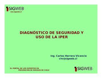 Diagnóstico de Seguridad y desarrollo de la IPER - Sigweb