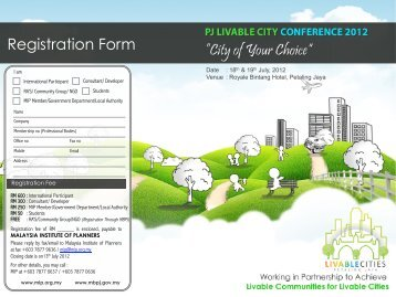 Registration Form - Malaysian Institute of Planners
