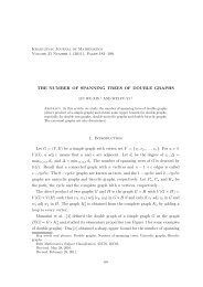 THE NUMBER OF SPANNING TREES OF DOUBLE GRAPHS 1 ...