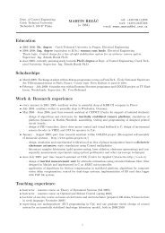 Education Scholarships Work & Research experience Teaching ...