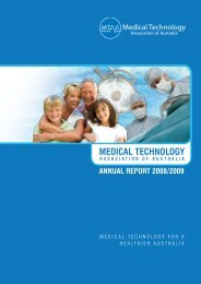 2009 MTAA Annual Report - Medical Technology Association of ...