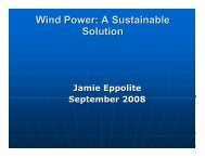 Wind Power: A Sustainable Solution