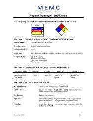 Sodium Aluminum Tetrafluoride - MEMC Electronic Materials, Inc.
