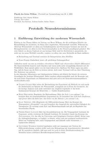 Protokoll 2, Kerstan, Sander, Thater
