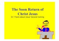 The Soon Return of Christ Jesus by brother Henry Kong