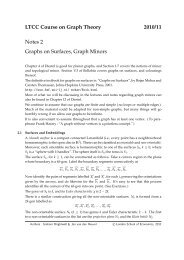 LTCC Course on Graph Theory 2010/11 Notes 2 Graphs on ...