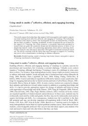 Using email to enable e (effective, efficient, and engaging ... - Laulima
