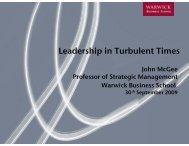 Leadership in Turbulent Times p - Warwick Business School