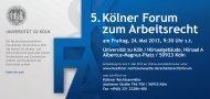 5. Kölner Forum zum Arbeitsrecht - Institut für Arbeits- und ...