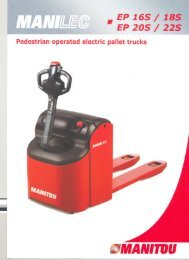 View detailed pallet truck - Manitou