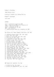 Rodger B. MacGowan (RBM Artwork List) Listing of ... - C3i Ops Center